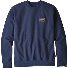 Patagonia Shop Sticker Patch Uprisal Crew Crew Sweatshirt Herren classic navy